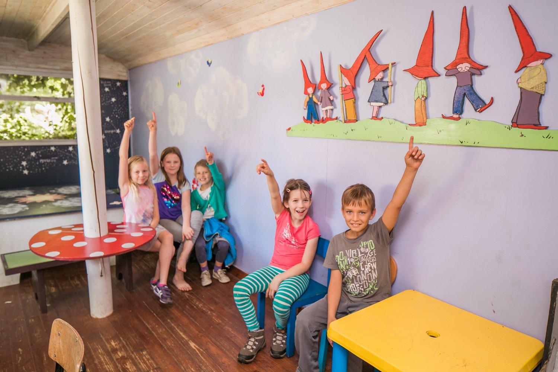 Kinderen op schoolreis in de jeugdherberg