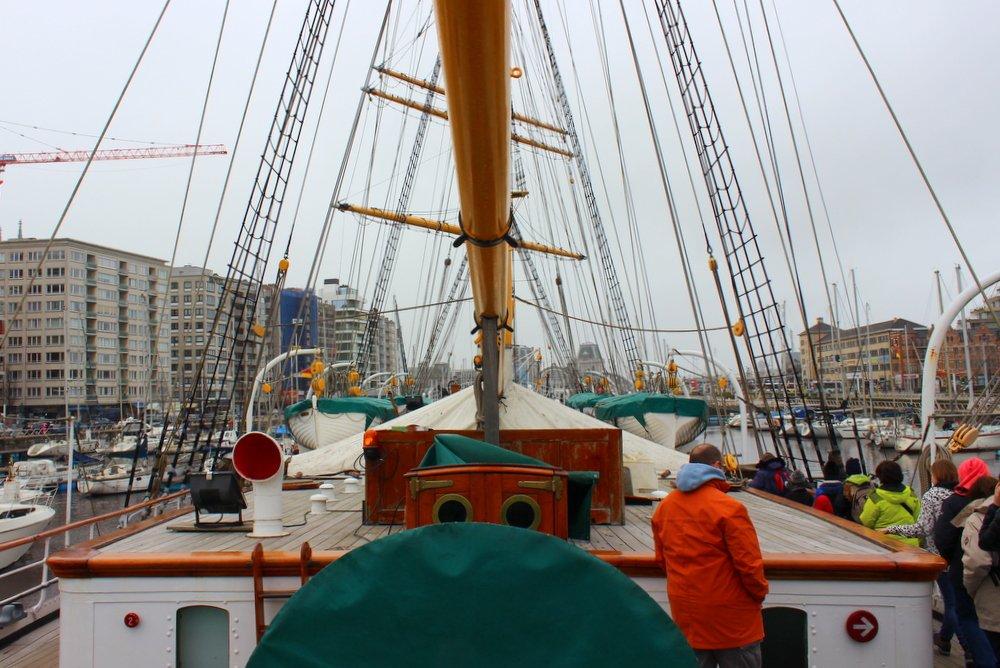 bezoek aan het zeilschip Mercator in Oostende